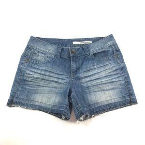 DKNY Jeans Distressed Denim Shorts